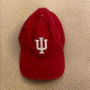 IU hat with adjustable back
